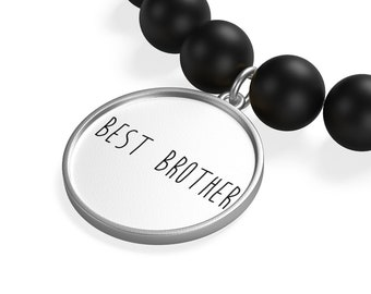 Best Brother Matte Onyx Bracelet