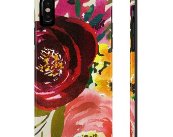 Red and Yellow Phone Case, Case Mate Tough Phone Cases, Custom Phone Cases, iPhone Case, Samsung Phone Case, Galaxy Case