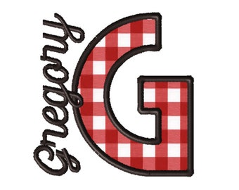 Made To Order - Letter G, CUSTOM Applique Embroidery File: 5x5