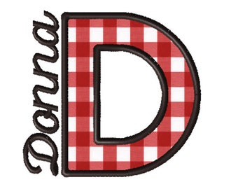 Made To Order - Letter D, CUSTOM Applique Embroidery File: 5x5