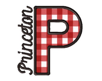 Made To Order - Letter P, CUSTOM Applique Embroidery File: 5x5