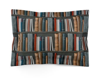 Bookshelf Microfiber Pillow Sham