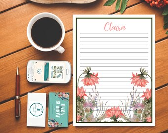 Customizable Stationary: Floral 1 Pattern