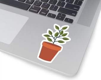 Plant Kiss-Cut Stickers, Stickers, Custom Stickers, Stationery, Office Supplies, School Supplies