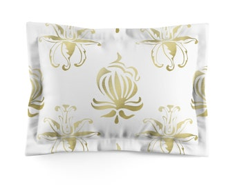 Gold Design Microfiber Pillow Sham