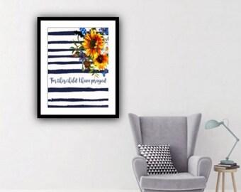 PDF Printable Art - Sunflowers