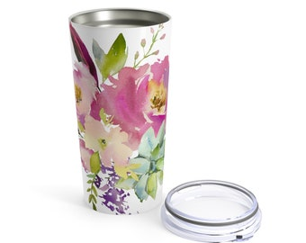 Tumbler 20Oz: Floral Pastels