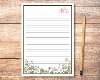 PDF Printable Notes: Fuscia 1 Pattern