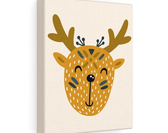 Little Deer 8x10 Canvas Art, Home Decor, Wall Art, Canvas Art, Nursery Decor, Living Room Decor, Bedroom Decor, Stretched Canvas