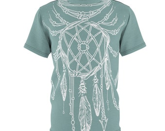 Mint Dreamcatcher - Unisex Aop Cut  Sew Tee