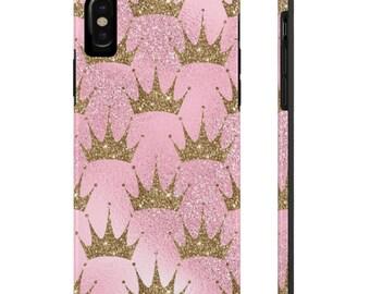 Pink and Gold Phone Case, Case Mate Tough Phone Cases, Custom Phone Cases, iPhone Case, Samsung Phone Case, Galaxy Case