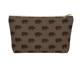 Makeup Bag: Brown Bears