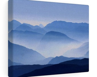 8x10 Canvas Art: Blue Mountains