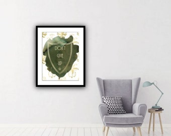 PDF Printable Art - Forest Shield Don't Give Up