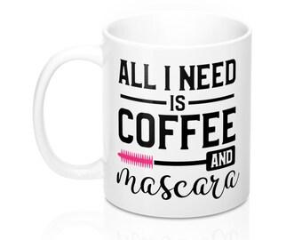 11oz Mug, Coffee Mug, Custom Printed Mug, Gift for Her,  Glam Mug, Glam Cup, Glam Fam Gift, Glam Gift, Makeup Mug