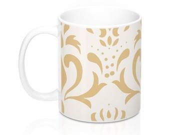 Gold Design, 11oz Mug, Custom Coffee Mug, Tea Mug, Custom Gift, Gift for Her, Stocking Stuffer, Home Decor, Cups, Mugs