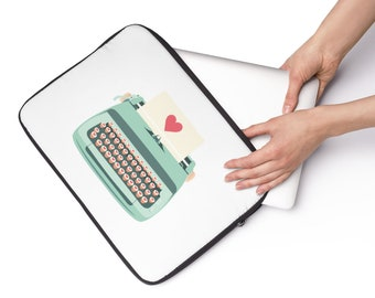Teal Typewriter Laptop Sleeve
