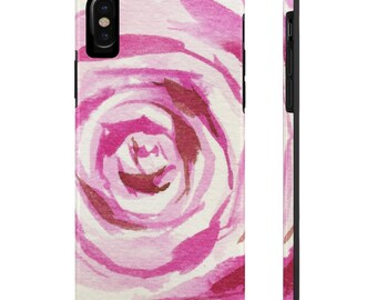 Watercolor Rose, Case Mate Tough Phone Cases