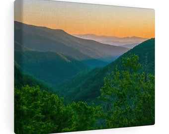 8x10 Canvas Art: Blue Mountain Sun Rise