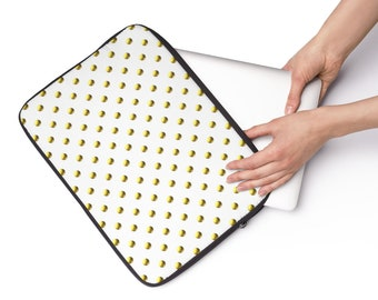 Gold Dots, Custom Printed Laptop Sleeve