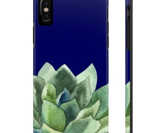 Navy Succulent, Case Mate Tough Phone Cases