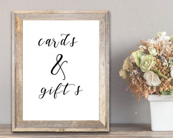 PDF Printable Art - Wedding Gifts and Cards Sign