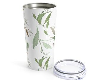 Tumbler 20Oz: Floral Forest Design