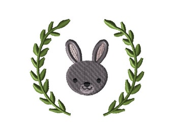 Bunny Embroidery, Embroidery Design, Craft Supplies & Tools, Embroidery Pattern, Embroidery File, Machine Embroidery, Pes Design