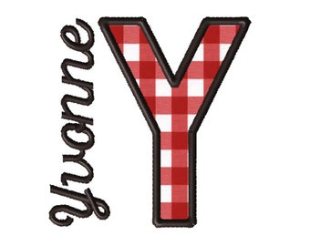 Made To Order - Letter Y, CUSTOM Applique Embroidery File: 5x5
