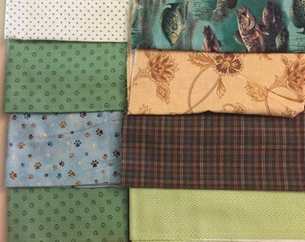 Cotton Fabric Scrap Pack Lot No. 10