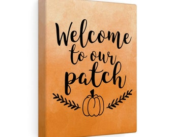 8x10 Canvas Art: Pumpkin Patch