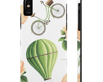 Hot Air Balloon And Bicycle, Case Mate Tough Phone Cases