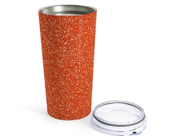 Orange Glitter Printed Tumbler 20Oz