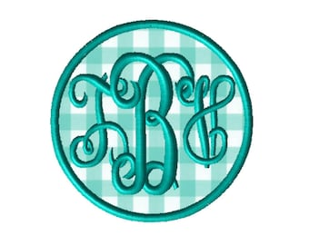 Made To Order - Monogram CUSTOM Applique Embroidery File: 5x5