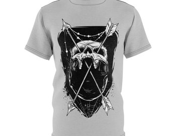 Skull And Arrows - Unisex Aop Cut  Sew Tee