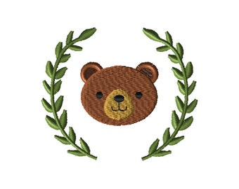 Bear Embroidery, Embroidery Design, Craft Supplies & Tools, Embroidery Pattern, Embroidery File, Machine Embroidery, Pes Design