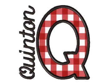 Made To Order - Letter Q, CUSTOM Applique Embroidery File: 5x5