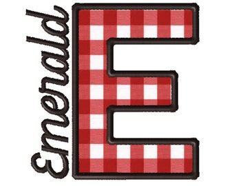 Made To Order - Letter E, CUSTOM Applique Embroidery File: 5x5