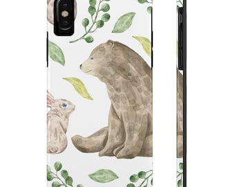 Bear And Rabbit, Case Mate Tough Phone Cases