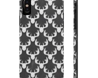 Deer Head Phone Case, Case Mate Tough Phone Cases, Custom Phone Cases, iPhone Case, Samsung Phone Case, Galaxy Case