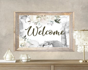 PDF Printable Art - Floral Welcome 9