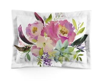 Floral Pastel Microfiber Pillow Sham