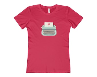 Typewriter Womens The Boyfriend Tee