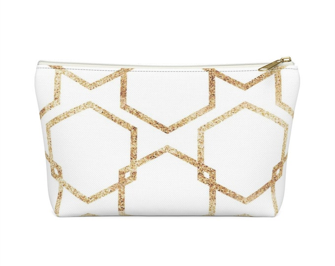 Featured listing image: Makeup Bag: Gold Geometric