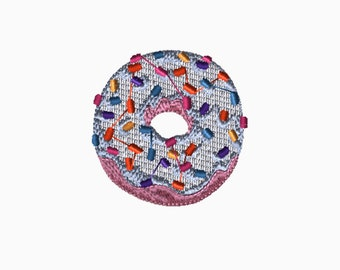 4x4 Embroidery File: Donut, Choose Your Size and Format