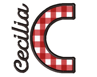 Made To Order - Letter C, CUSTOM Applique Embroidery File: 5x5