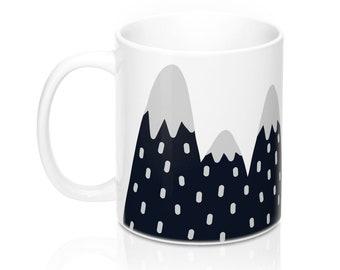 Mountains, 11oz Mug, Custom Coffee Mug, Tea Mug, Custom Gift, Gift for Her, Stocking Stuffer, Home Decor, Cups, Mugs