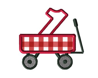 Christmas Wagon No. 1 Applique Embroidery File: 5x5, PES Format