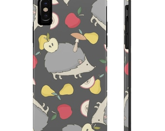 Hedgehogs And Fruit, Case Mate Tough Phone Cases