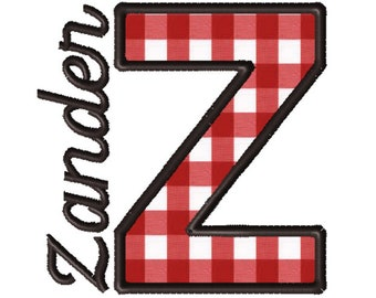 Made To Order - Letter Z, CUSTOM Applique Embroidery File: 5x5